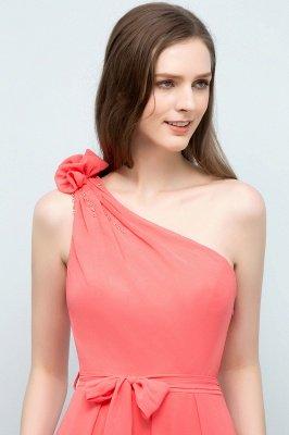 VALERIEN | A-Linie eine Schulter bodenlangen Chiffon Prom Kleider mit Bogen Schärpe_7
