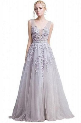ADDYSON | A-line Floor-length Tulle Bridesmaid Dress with Appliques_10