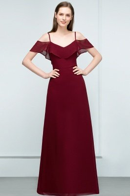 JULIANA | A-line Spaghetti Off-shoulder V-neck Long Chiffon Prom Dresses_10