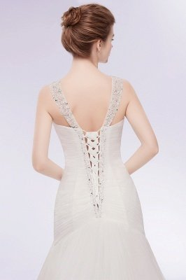 WENDY | Свадебные платья Tulle с кристаллами V-образным вырезом_3