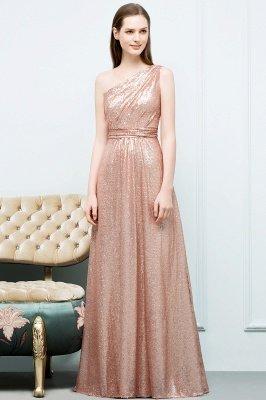 JOURNEE   A-line One-shoulder Sleeveless Floor Length Sequins Prom Dresses_6