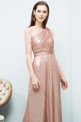 JOURNEE   A-line One-shoulder Sleeveless Floor Length Sequins Prom Dresses_5