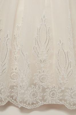 Robe de Mariée Col Montant Sans Manches avec Appliques Sexy Dos Nu_11