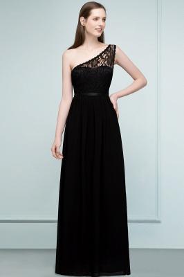 SYBIL | A-line одно плечо длиной до пола, кружева, шифон, платья невесты с поясом_1