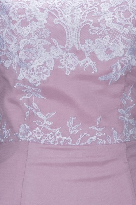 VIRGINIA | Meerjungfrau Off-the-Shoulder-Spitze Applikationen Blushing Pink Prom Kleider_7