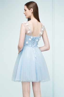 RHODA   A-line Short Appliques Tulle Homecoming Dresses with Sash_3