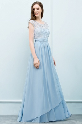 SHIRLEY | A-line Long Cap Sleeves Lace Top Chiffon Bridesmaid Dresses_7