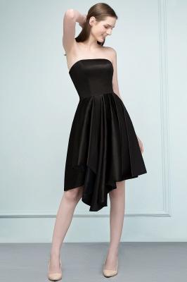 REA | A-ligne bretelles courtes volants noir robes de retour_8