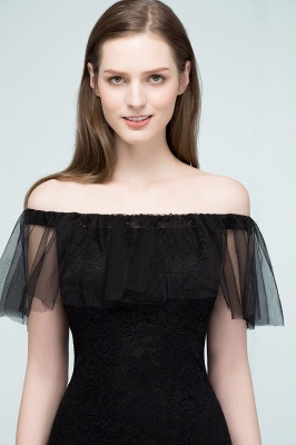 SYLVIA   Mermaid Floor Length Off-shoulder Lace Tulle Prom Dresses_5