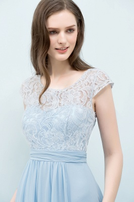 SHIRLEY | A-line Long Cap Sleeves Lace Top Chiffon Bridesmaid Dresses_8