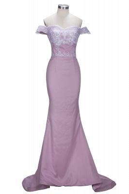 VIRGINIA | Meerjungfrau Off-the-Shoulder-Spitze Applikationen Blushing Pink Prom Kleider_1
