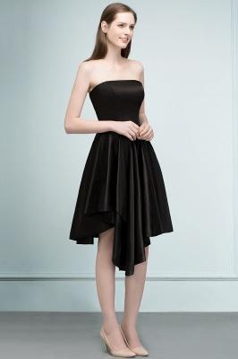 REA | A-ligne bretelles courtes volants noir robes de retour_4