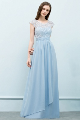 SHIRLEY | A-line Long Cap Sleeves Lace Top Chiffon Bridesmaid Dresses_5