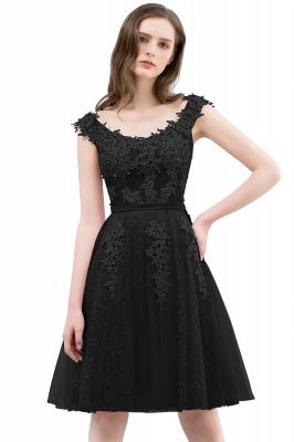 WILMA | Vestido de baile Decote Ilusão Tea Comprimento Lace Tulle Dusty Rosa Prom Vestidos com Beading_6