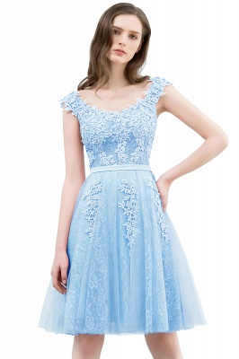 WILMA | Ball Gown Illusion Neckline Tea Length Lace Tulle Dusty Pink Prom Dresses with Beading_3