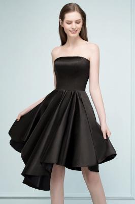 REA | A-ligne bretelles courtes volants noir robes de retour_6