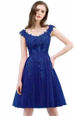 WILMA | Vestido de bola Illusion escote longitud de té encaje Tul Dusty Pink Prom Vestidos con abalorios_3