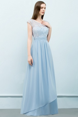 SHIRLEY | A-line Long Cap Sleeves Lace Top Chiffon Bridesmaid Dresses_6