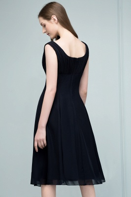SUZANNE | A-line Tea Length Sleeveless Ruffled Chiffon Bridesmaid Dresses