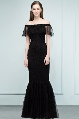 SYLVIA | Mermaid Floor Length Off-shoulder Lace Tulle Prom Dresses_6