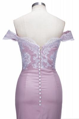 VIRGINIA | Meerjungfrau Off-the-Shoulder-Spitze Applikationen Blushing Pink Prom Kleider_6