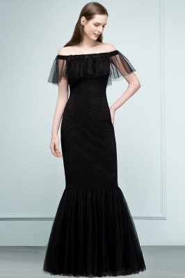 SYLVIA | Mermaid Floor Length Off-shoulder Lace Tulle Prom Dresses_1