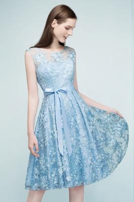 RENATA | A-line Sleeveless Knee Length Appliques Homecoming Dresses with Robbin Sash_6
