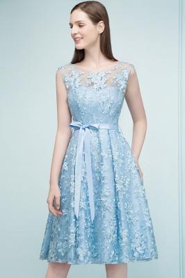 RENATA | A-line Sleeveless Knee Length Appliques Homecoming Dresses with Robbin Sash_7