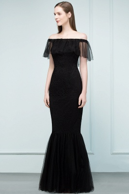 SYLVIA | Mermaid Floor Length Off-shoulder Lace Tulle Prom Dresses_4