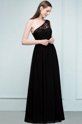 سيبيل | A- لاين أميرة بكتف واحد الطول الأرضي شيفون فستان وصيفة الشرف مع وشاحات_4