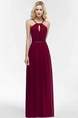 ROMA | Vestidos de dama de honor de espagueti de escote redondo con escote palabra de honor_1
