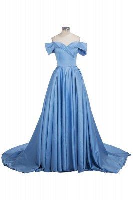 TORRIE | Ball Gown Off-shoulder Floor Length Blue Prom Dresses_1