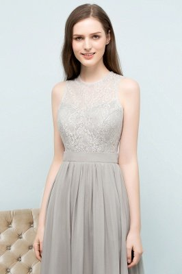 SILVIA | A-line Sleeveless Long Lace Top Chiffon Bridesmaid Dresses_7