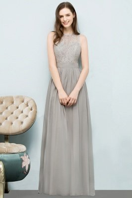 SILVIA | A-line Sleeveless Long Lace Top Chiffon Bridesmaid Dresses_4