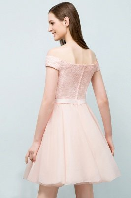 SOPHIA | A-line Off-shoulder Short Lace Chiffon Homecoming Dresses_3