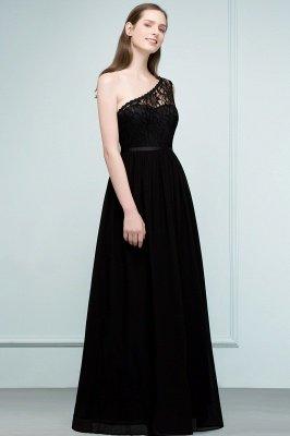 سيبيل | A- لاين أميرة بكتف واحد الطول الأرضي شيفون فستان وصيفة الشرف مع وشاحات_6
