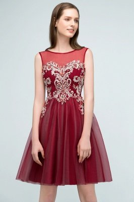 SUSANNA | A-line Short Sleeveless Appliqued Tulle Homecoming Dresses with Crystals_8
