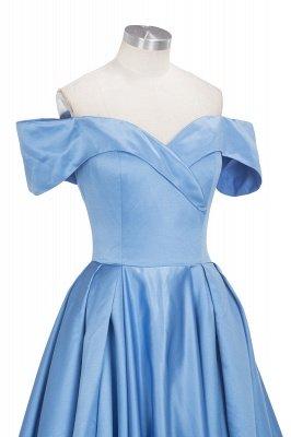 TORRIE | Ball Gown Off-shoulder Floor Length Blue Prom Dresses_10