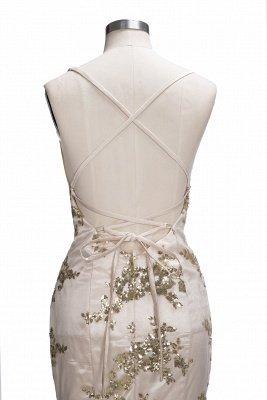 SAGE | Mermaid V-neck Spaghetti Floor-length Crystal Beads Prom Dresses_10