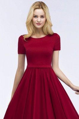 ROSEANNA | A-line с короткими рукавами Длина лодыжки Аппликация Пром платья с салфеткой_6