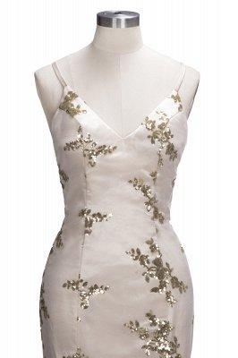 SAGE | Mermaid V-neck Spaghetti Floor-length Crystal Beads Prom Dresses_11
