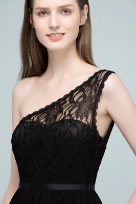 سيبيل | A- لاين أميرة بكتف واحد الطول الأرضي شيفون فستان وصيفة الشرف مع وشاحات_9