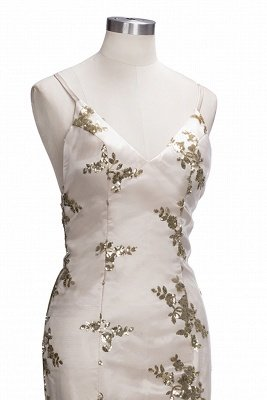 SAGE | Mermaid V-neck Spaghetti Floor-length Crystal Beads Prom Dresses_13
