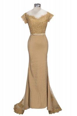 SELENE   Mermaid Off-shoulder Sweetheart Sheer Lace Appliques Prom Dresses_1