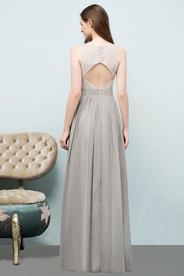 SILVIA | A-line Sleeveless Long Lace Top Chiffon Bridesmaid Dresses_3