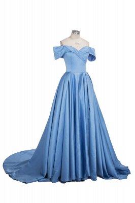 TORRIE | Ball Gown Off-shoulder Floor Length Blue Prom Dresses_8