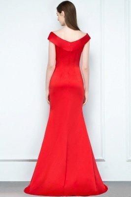 SUE | Mermaid Off-shoulder Floor Length Split Red Prom Dresses_3