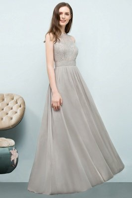 SILVIA | A-line Sleeveless Long Lace Top Chiffon Bridesmaid Dresses_5