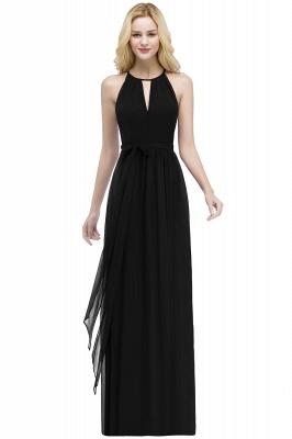 РОСАЛИНД | A-line Halter Floor Length Burgundy Bridesmaid Dresses with Bow Sash_6