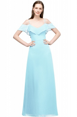 JULIANA | A-line Spaghetti Off-shoulder V-neck Long Chiffon Prom Dresses_3